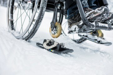 Wheelblades for Using Wheelchairs in Snow and Ice