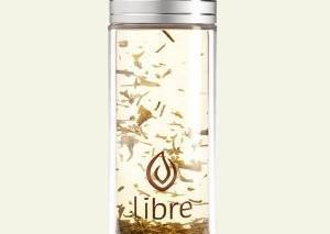 Thermal Double Walled Glass and Polycarbonate Water Bottle