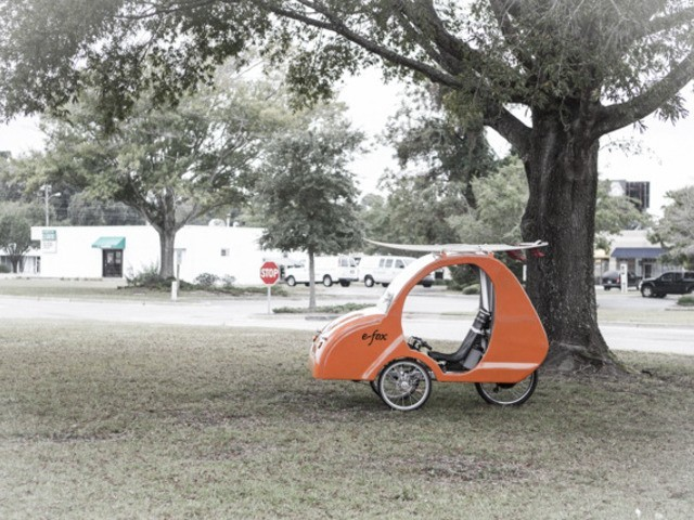 The E-Fox: Bicycle + Car + Eco-Friendly