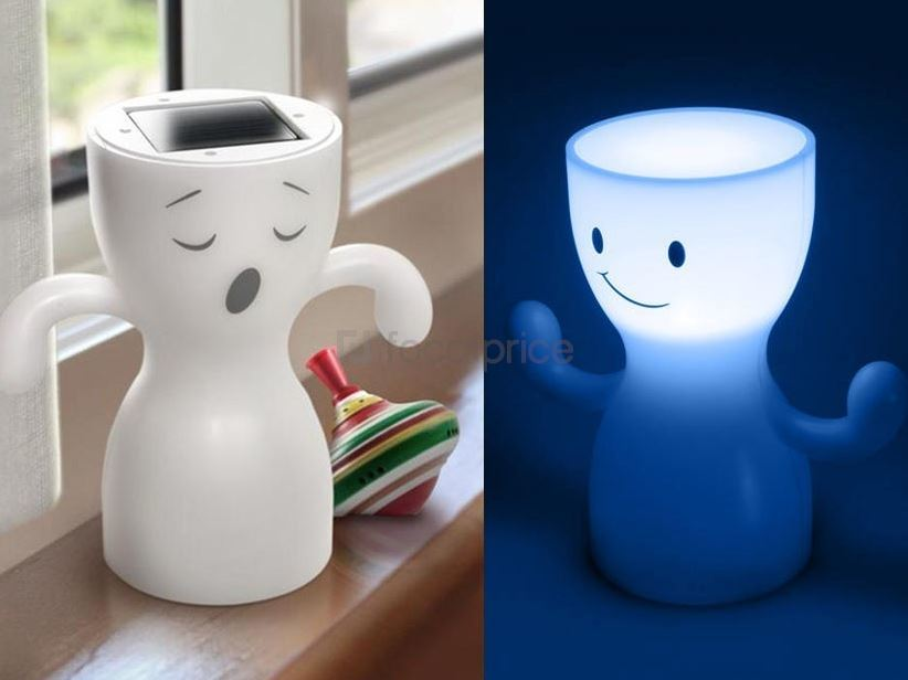 Cuteness: Globoy Blue Light Solar Night Lamp