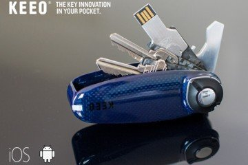 KEEO Carbon: Key Holder with App Tracking