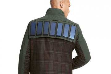 Solar Panel Jacket Charges Your Gadgets