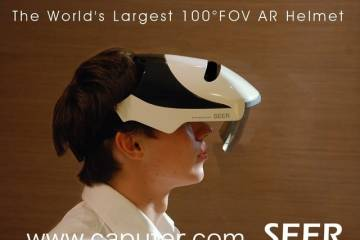 SEER: Augmented Reality Helmet with 100° FOV