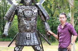 samurai-metal-sculpture