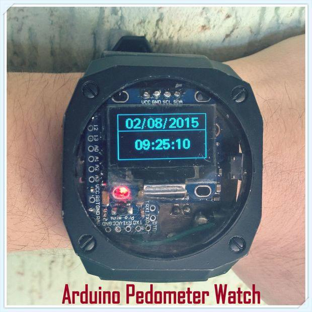 arduino-pedometer-watch
